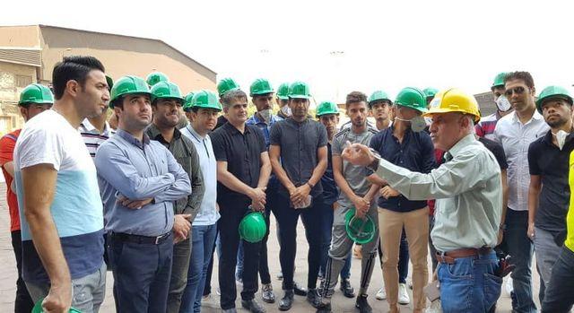 عکس/بازدید فولادیها از شرکت فولاد خوزستان